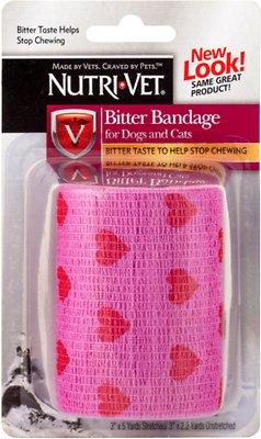Nutri-Vet Bitter Pet Bandage, Color Varies, 3-in