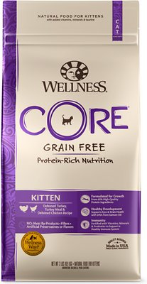 Wellness CORE Grain-Free Kitten Formula Dry Cat Food, 5-lb