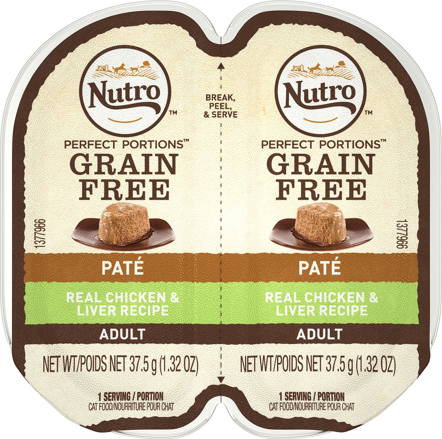 Nutro Perfect Portions Grain-Free Chicken & Liver Recipe Cat Food Trays Image