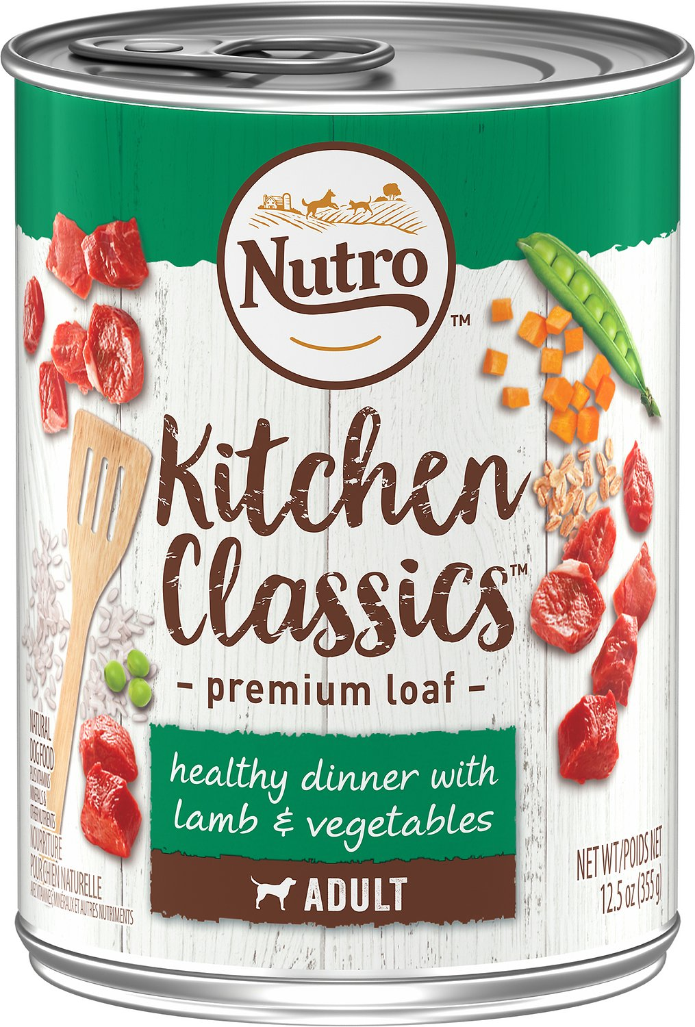 Nutro Adult Kitchen Classics Healthy Dinner With Lamb & Vegetables Canned Dog Food, 12.5-oz