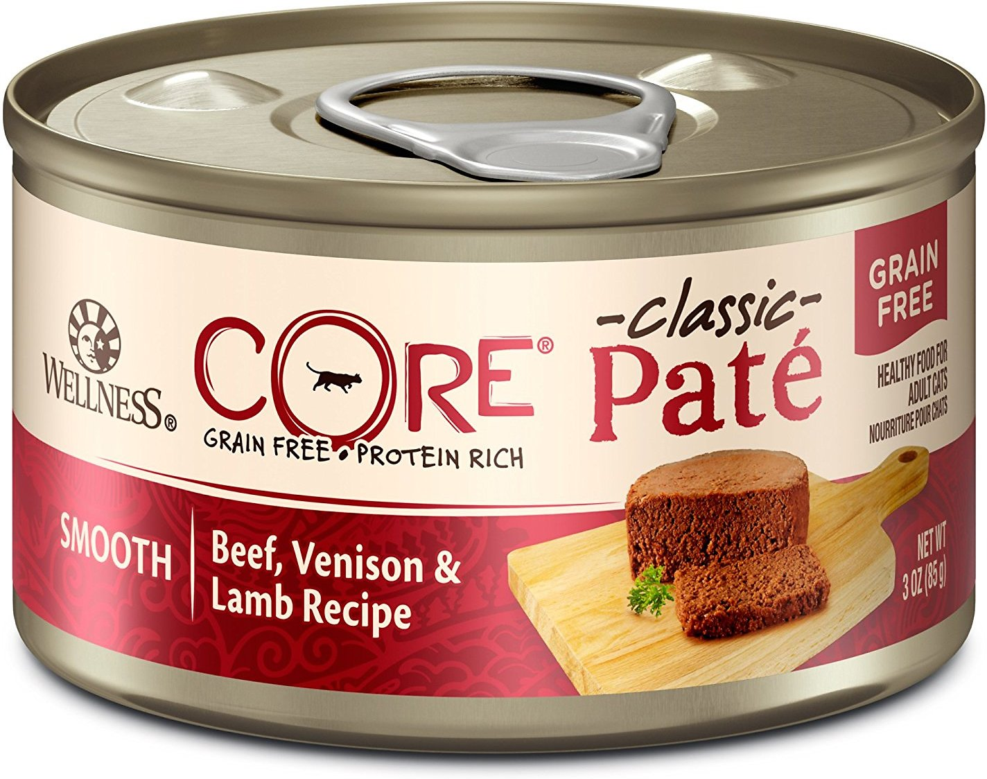 Wellness CORE Grain-Free Beef, Venison & Lamb Formula Canned Cat Food, 5.5-oz