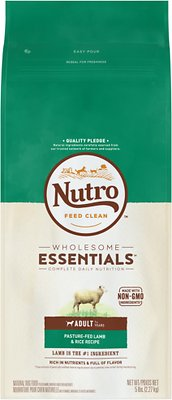 Nutro Wholesome Essentials Adult Pasture Fed Lamb & Rice Recipe Dry Dog Food, 5-lb