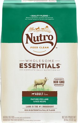 Nutro Wholesome Essentials Adult Pasture Fed Lamb & Rice Recipe Dry Dog Food, 30-lb bag
