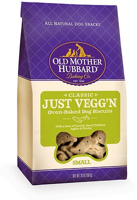 Old Mother Hubbard Classic Just Vegg'N Biscuits Baked Dog Treats, Small, 3.3-lb bag