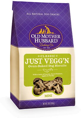 Old Mother Hubbard Classic Just Vegg'N Biscuits Baked Dog Treats, Mini, 20-oz bag