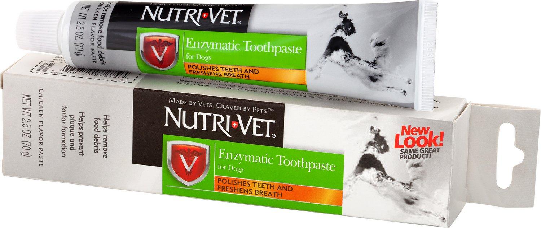 Nutri-Vet Enzymatic Dog Toothpaste, 2.5-oz tube