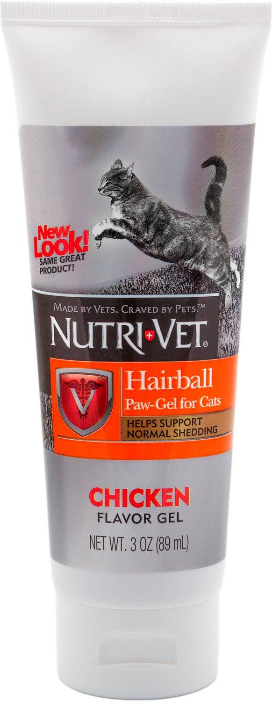 Nutri-Vet Hairball Chicken Flavor Paw-Gel for Cats, 3-oz bottle
