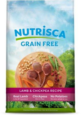 Nutrisca Grain-Free Lamb & Chickpea Recipe Dry Dog Food, 15-lb