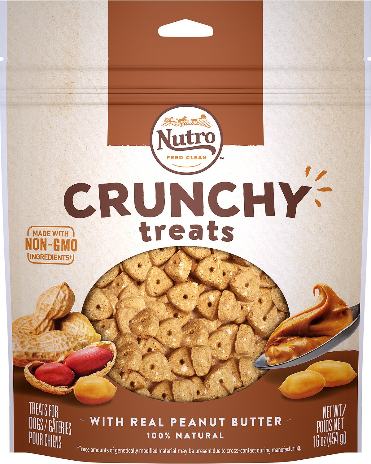 Nutro Crunchy with Real Peanut Butter Dog Treats Image