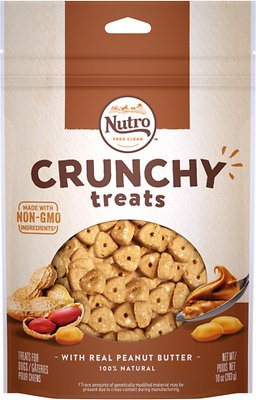 Nutro Crunchy with Real Peanut Butter Dog Treats, 10-oz bag