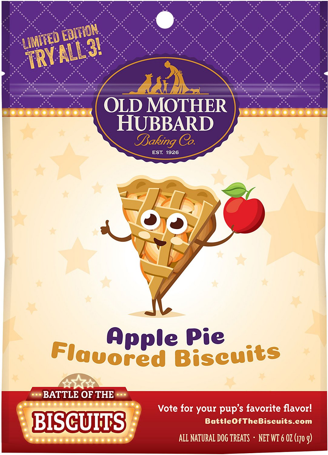 Old Mother Hubbard Limited Edition Apple Pie Flavored Biscuits Dog Treats, 6-oz bag