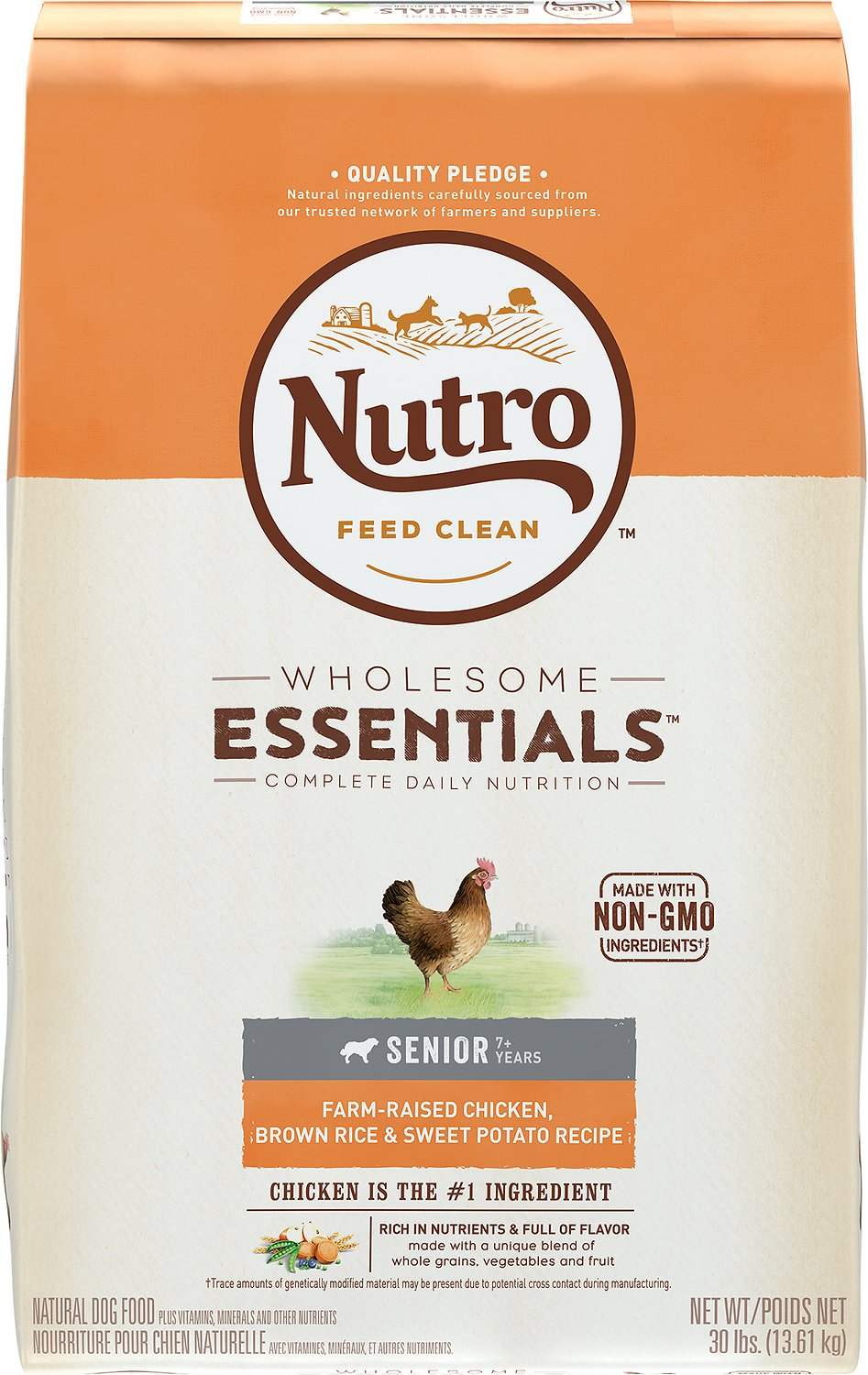 Nutro Wholesome Essentials Senior Farm Raised Chicken, Brown Rice & Sweet Potato Recipe Dry Dog Food Image