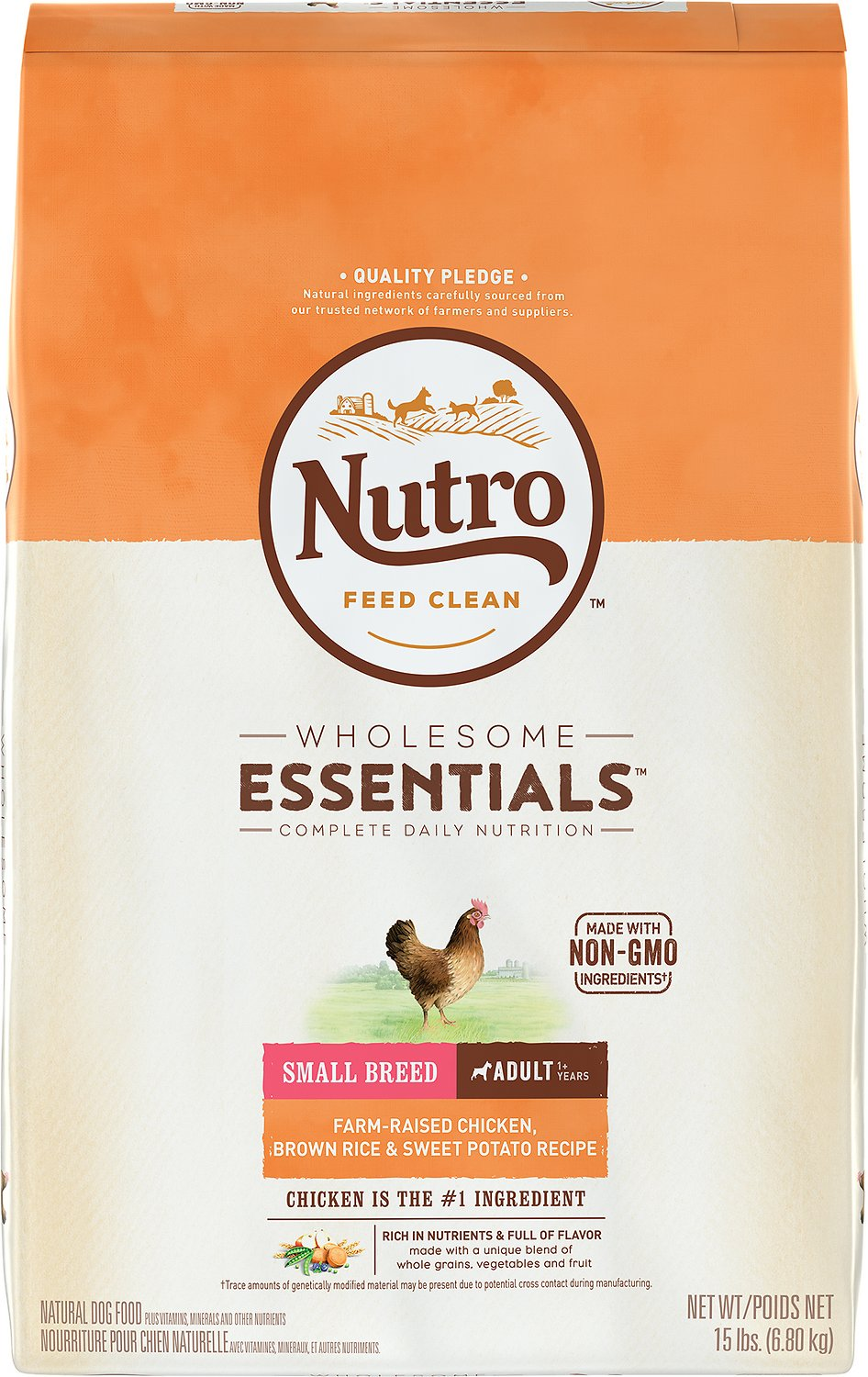 Nutro Wholesome Essentials Small Breed Adult Farm Raised Chicken, Brown Rice & Sweet Potato Recipe Dry Dog Food Image