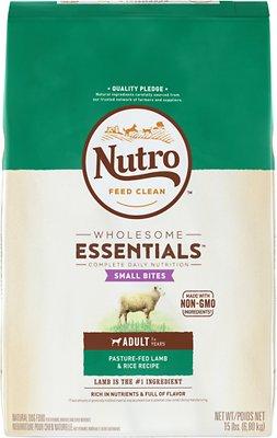 Nutro Wholesome Essentials Small Bites Adult Pasture Fed Lamb & Rice Recipe Dry Dog Food, 15-lb bag