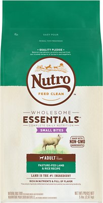 Nutro Wholesome Essentials Small Bites Adult Pasture Fed Lamb & Rice Recipe Dry Dog Food, 5-lb