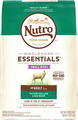Nutro Wholesome Essentials Small Bites Adult Pasture Fed Lamb & Rice Recipe Dry Dog Food, 30-lb bag