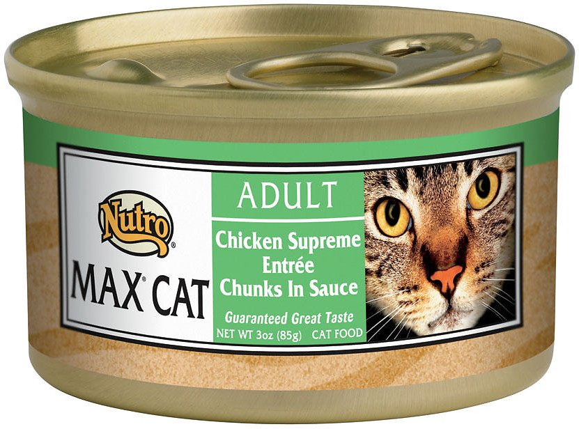 Nutro Max Adult Chicken Supreme Entree Chunks in Sauce Canned Cat Food, 3-oz