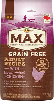 Nutro Max Grain-Free Adult Recipe with Farm-Raised Chicken Dry Dog Food, 4-lb bag