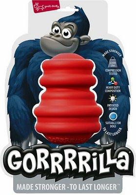 Multipet Gorrrrilla Dog Toy, Red, 4.5-in