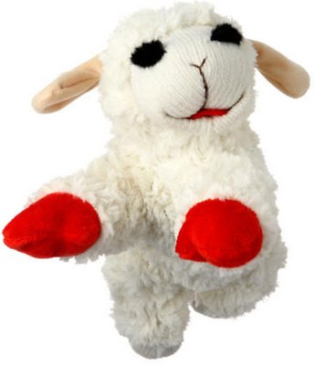 Multipet Lamb Chop Plush Dog Toy, Jumbo