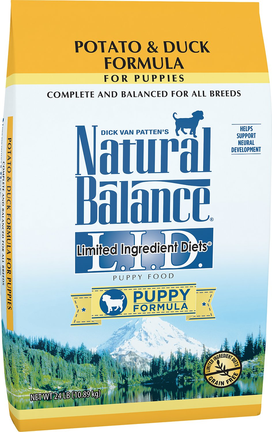 Natural Balance L.I.D. Limited Ingredient Diets Puppy Formula Potato & Duck Formula Grain-Free Dry Dog Food, 4-lb