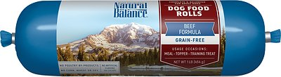 Natural Balance Beef Formula Grain-Free Dog Food Roll, 1-lb