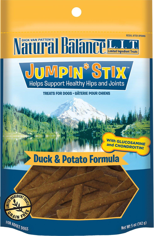 Natural Balance L.I.T. Limited Ingredient Treats Jumpin' Stix Duck & Potato Formula Dog Treats, 5-oz bag