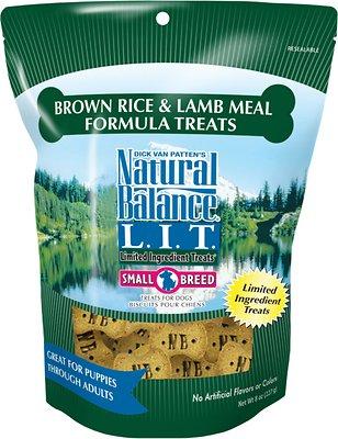 Natural Balance L.I.T. Limited Ingredient Treats Brown Rice & Lamb Meal Formula Dog Treats, Small Breed, 8-oz bag