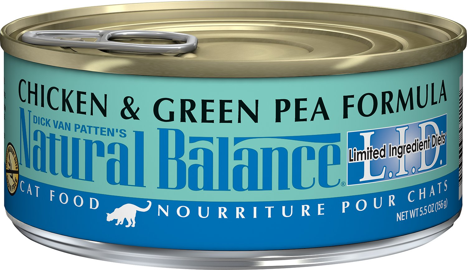 Natural Balance L.I.D. Limited Ingredient Diets Chicken & Green Pea Formula Grain-Free Canned Cat Food, 3-oz
