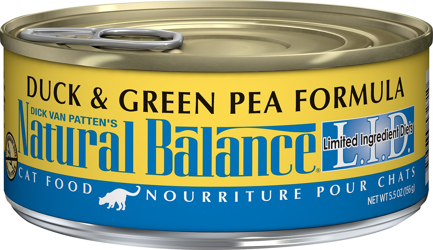 Natural Balance L.I.D. Limited Ingredient Diets Duck & Green Pea Formula Grain-Free Canned Cat Food, 5.5-oz