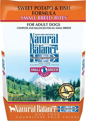Natural Balance L.I.D. Limited Ingredient Diets Sweet Potato & Fish Formula Small Breed Bites Grain-Free Dry Dog Food, 4.5-lb bag