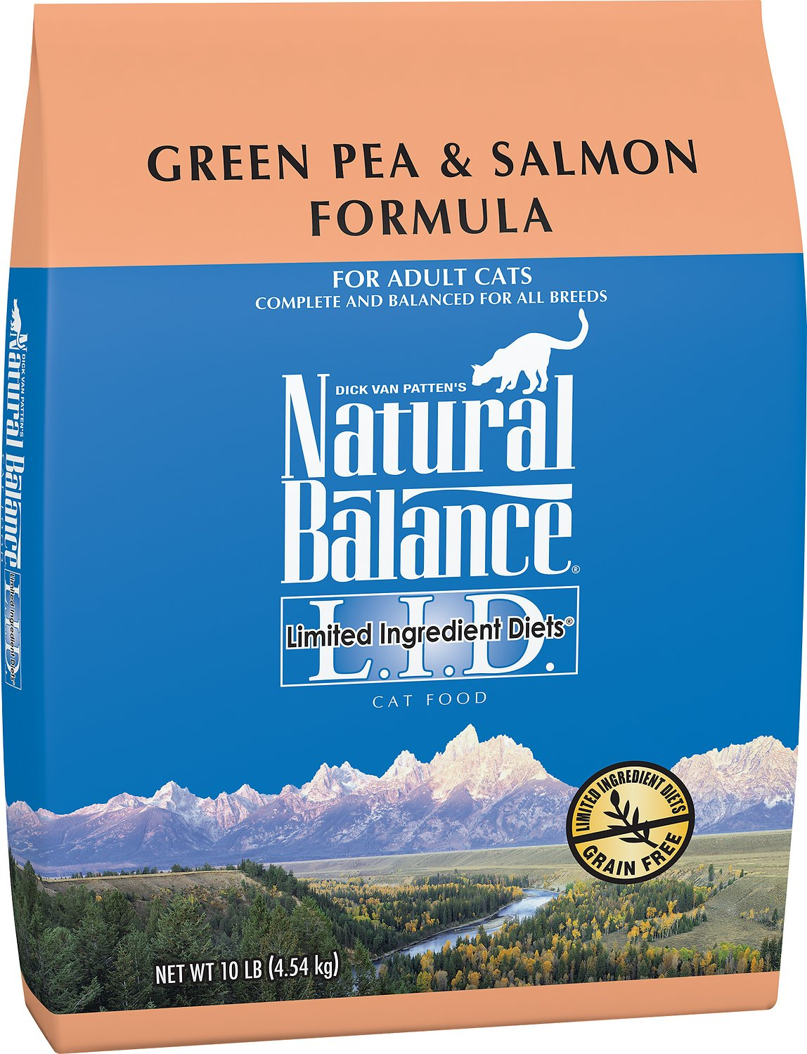 Natural Balance L.I.D. Limited Ingredient Diets Green Pea & Salmon Formula Grain-Free Dry Cat Food Image