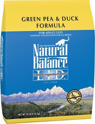 Natural Balance L.I.D. Limited Ingredient Diets Green Pea & Duck Formula Grain-Free Dry Cat Food, 10-lb bag
