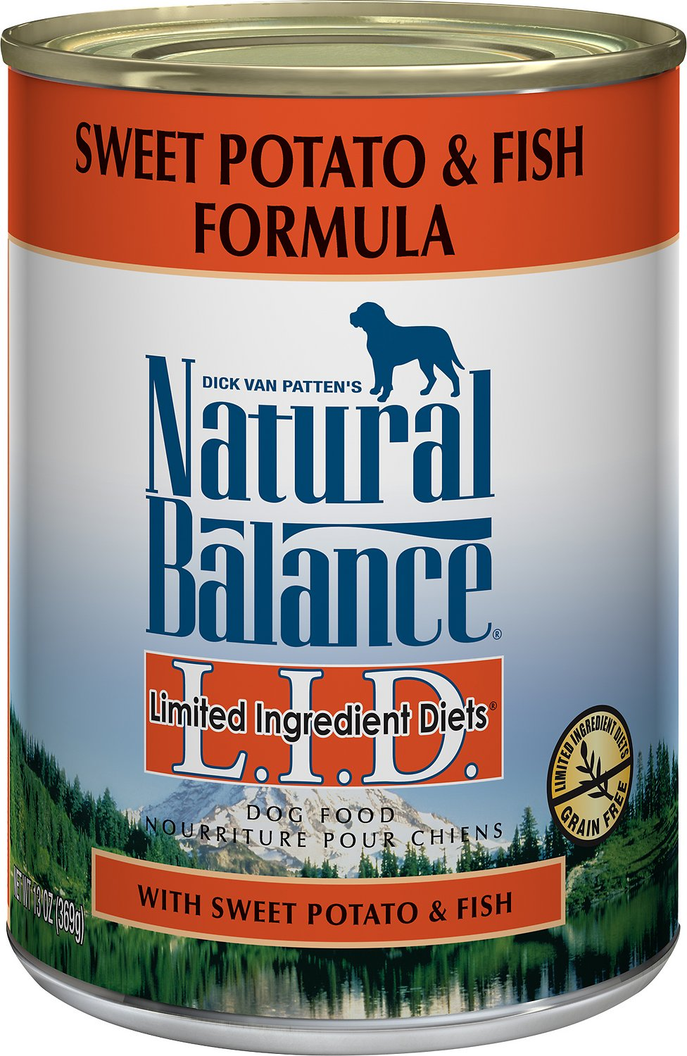 Natural Balance L.I.D. Limited Ingredient Diets Sweet Potato & Fish Formula Grain-Free Canned Dog Food Image