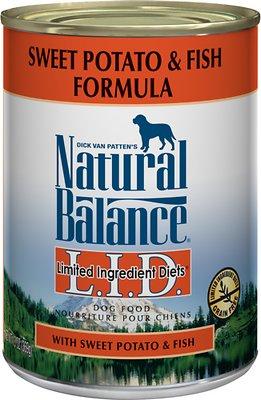 Natural Balance L.I.D. Limited Ingredient Diets Sweet Potato & Fish Formula Grain-Free Canned Dog Food, 13-oz, case of 12