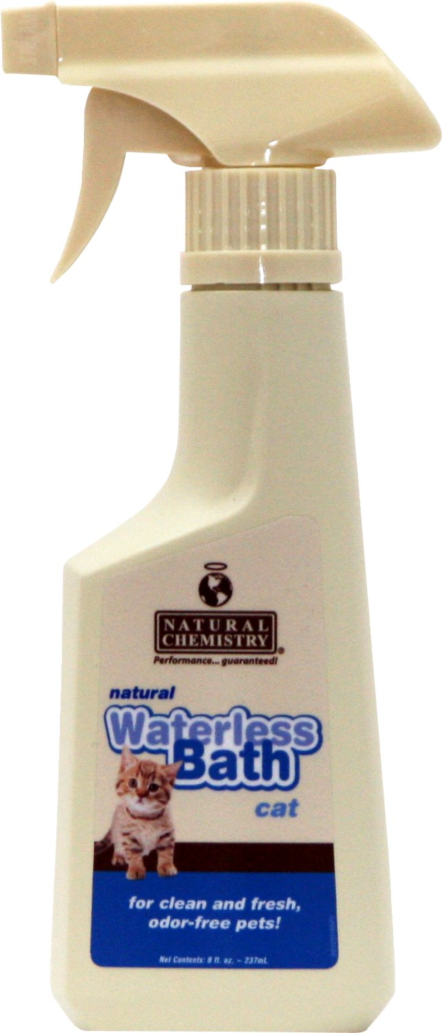Natural Chemistry Waterless Bath for Cats, 8-oz bottle