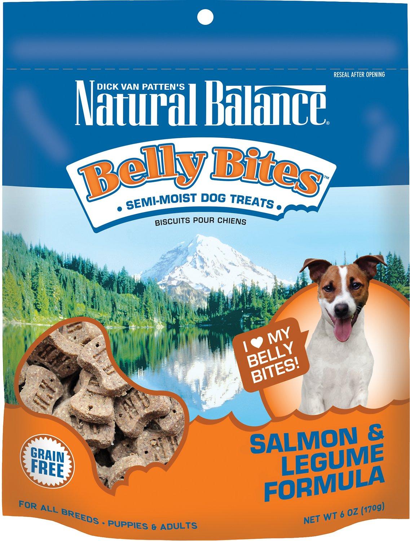Natural Balance Belly Bites Salmon & Legume Formula Grain-Free Dog Treats, 6-oz bag