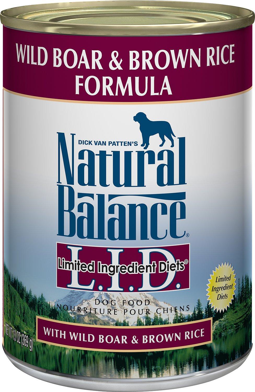Natural Balance L.I.D. Limited Ingredient Diets Wild Boar & Brown Rice Formula Canned Dog Food Image