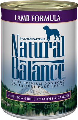 Natural Balance Ultra Premium Lamb Formula Canned Dog Food, 13-oz, case of 12