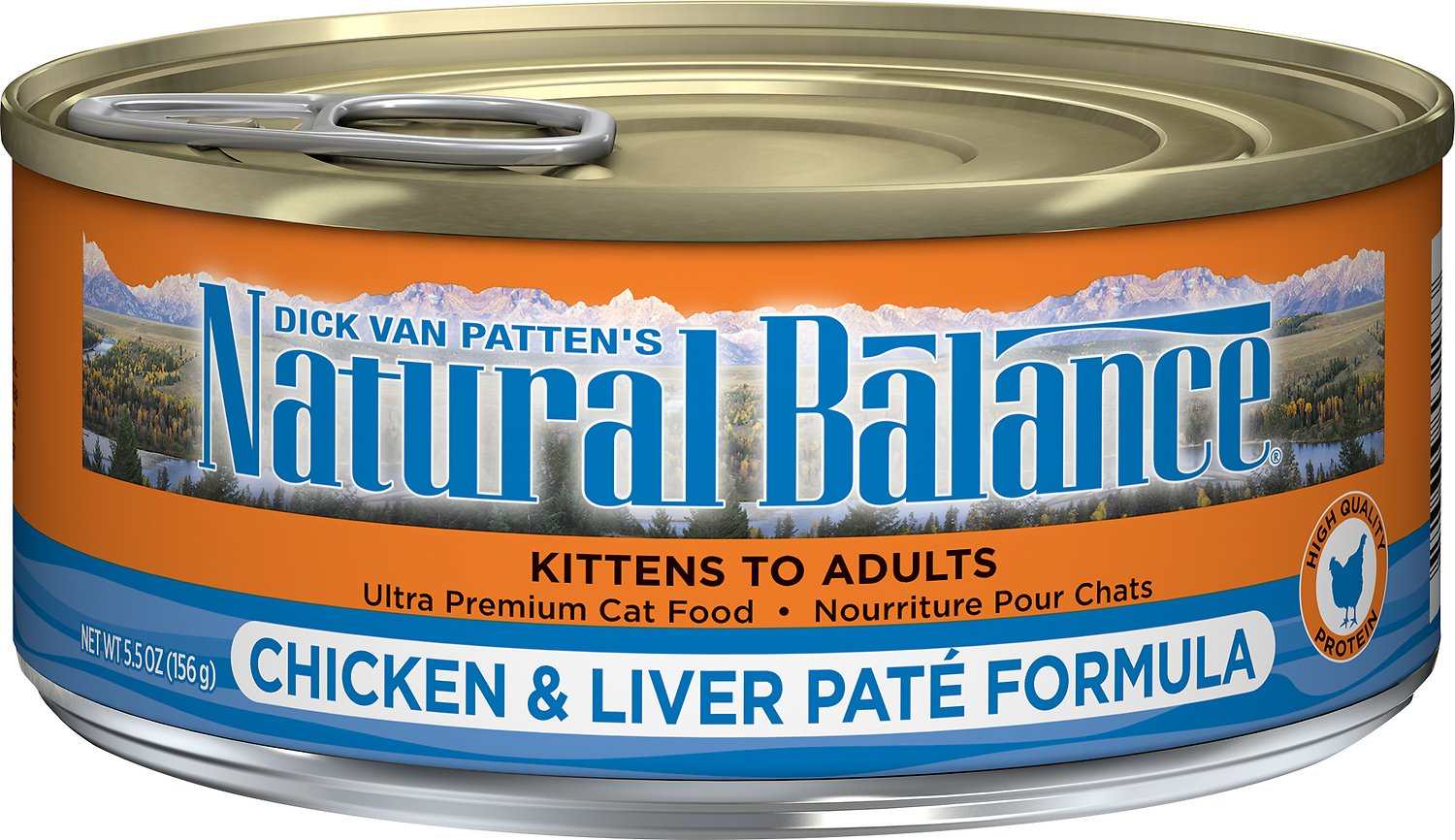 Natural Balance Ultra Premium Chicken & Liver Pate Formula Canned Cat Food Image
