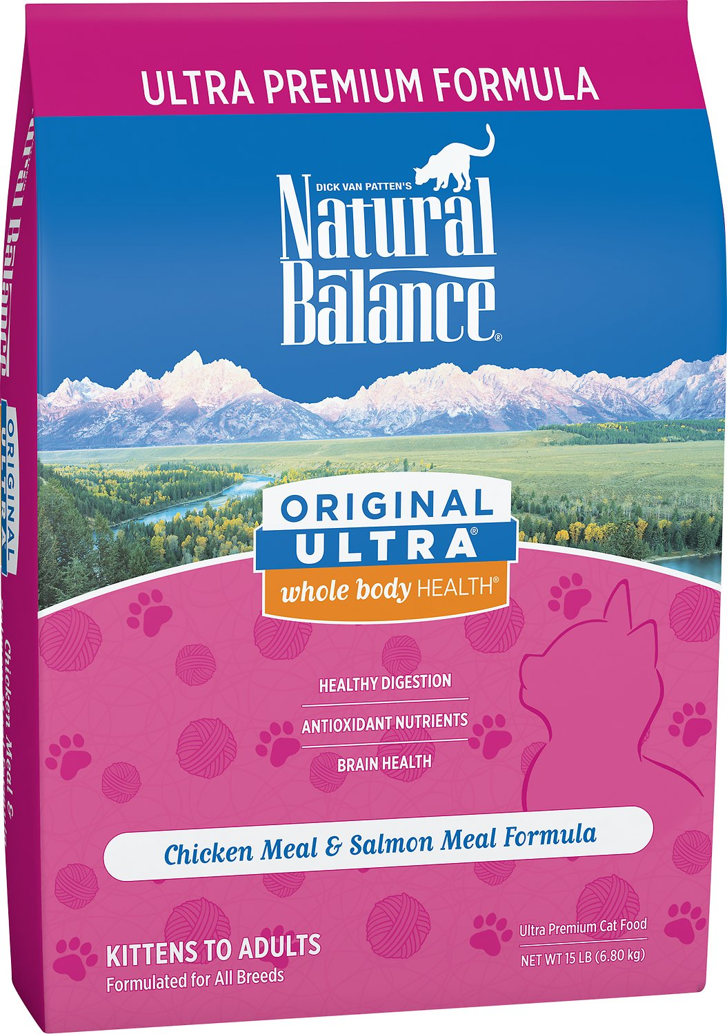 Natural Balance Original Ultra Whole Body Health Chicken Meal & Salmon Meal Formula Dry Cat Food Image