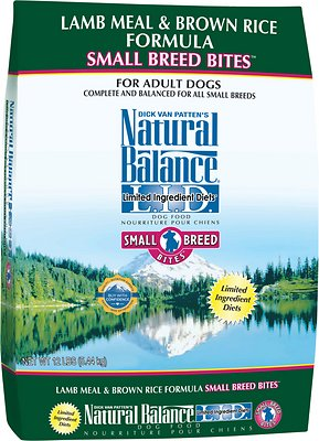 Natural Balance L.I.D. Limited Ingredient Diets Lamb Meal & Brown Rice Formula Small Breed Bites Dry Dog Food, 12-lb bag