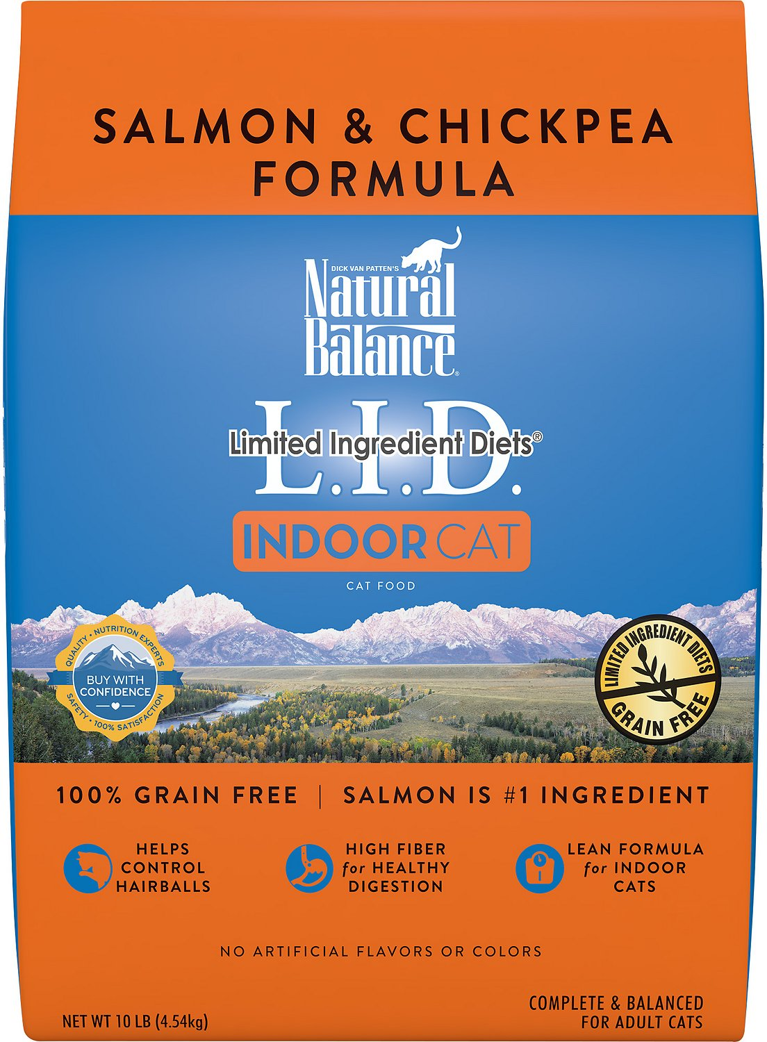 Natural Balance L.I.D. Limited Ingredient Diets Indoor Grain-Free Salmon & Chickpea Formula Dry Cat Food Image