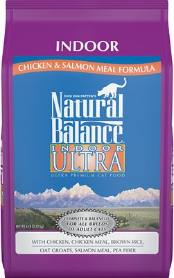 Natural Balance Indoor Ultra Chicken Meal & Salmon Meal Formula Dry Cat Food, 6-lb bag