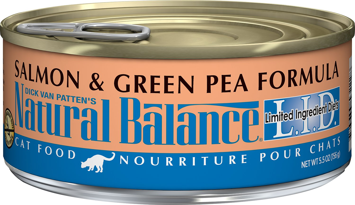 Natural Balance L.I.D. Limited Ingredient Diets Salmon & Green Pea Formula Grain-Free Canned Cat Food, 5.5-oz