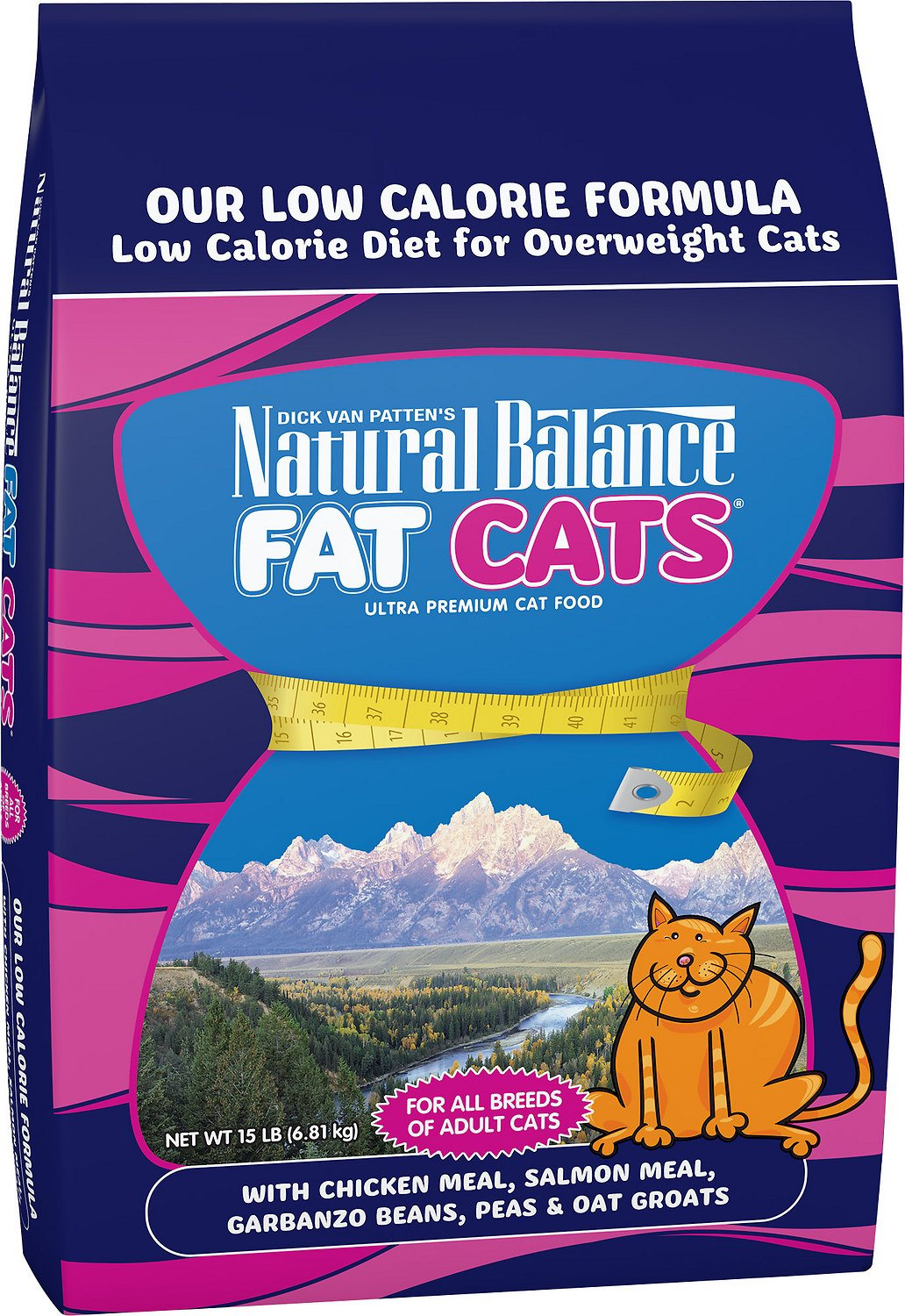 Natural Balance Fat Cats with Chicken Meal, Salmon Meal, Garbanzo Beans, Peas & Oatmeal Dry Cat Food Image