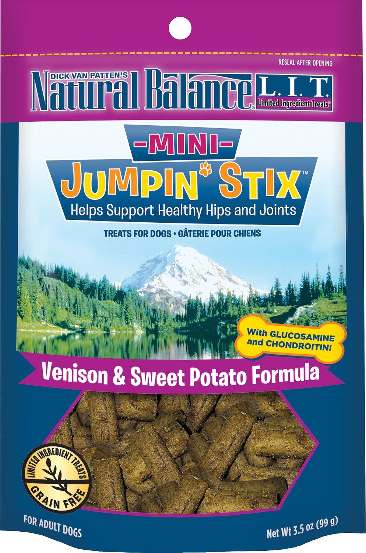 Natural Balance L.I.T. Limited Ingredient Treats Mini Jumpin' Stix Venison & Sweet Potato Formula Dog Treats, 3.5-oz bag
