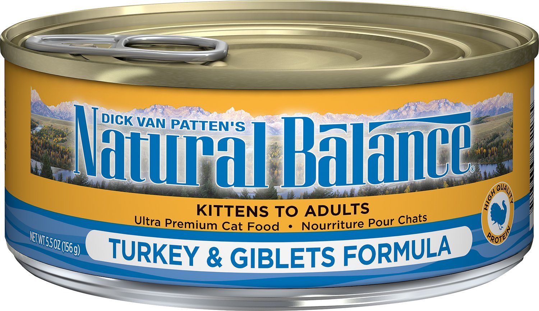 Natural Balance Ultra Premium Turkey & Giblets Formula Canned Cat Food, 5.5-oz