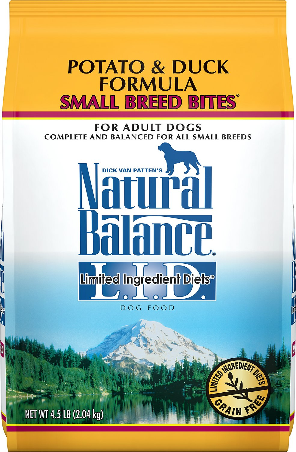 Natural Balance L.I.D. Limited Ingredient Diets Potato & Duck Formula Small Breed Bites Grain-Free Dry Dog Food, 12-lb