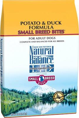 Natural Balance L.I.D. Limited Ingredient Diets Potato & Duck Formula Small Breed Bites Grain-Free Dry Dog Food, 12-lb bag